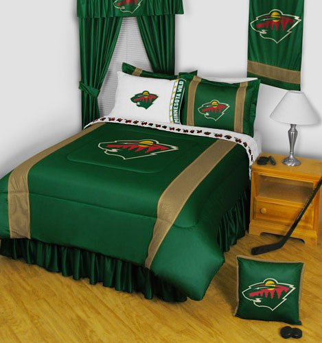 NHL Minnesota Wild 5 Pc Full Bedding Set Comforter and Sheet