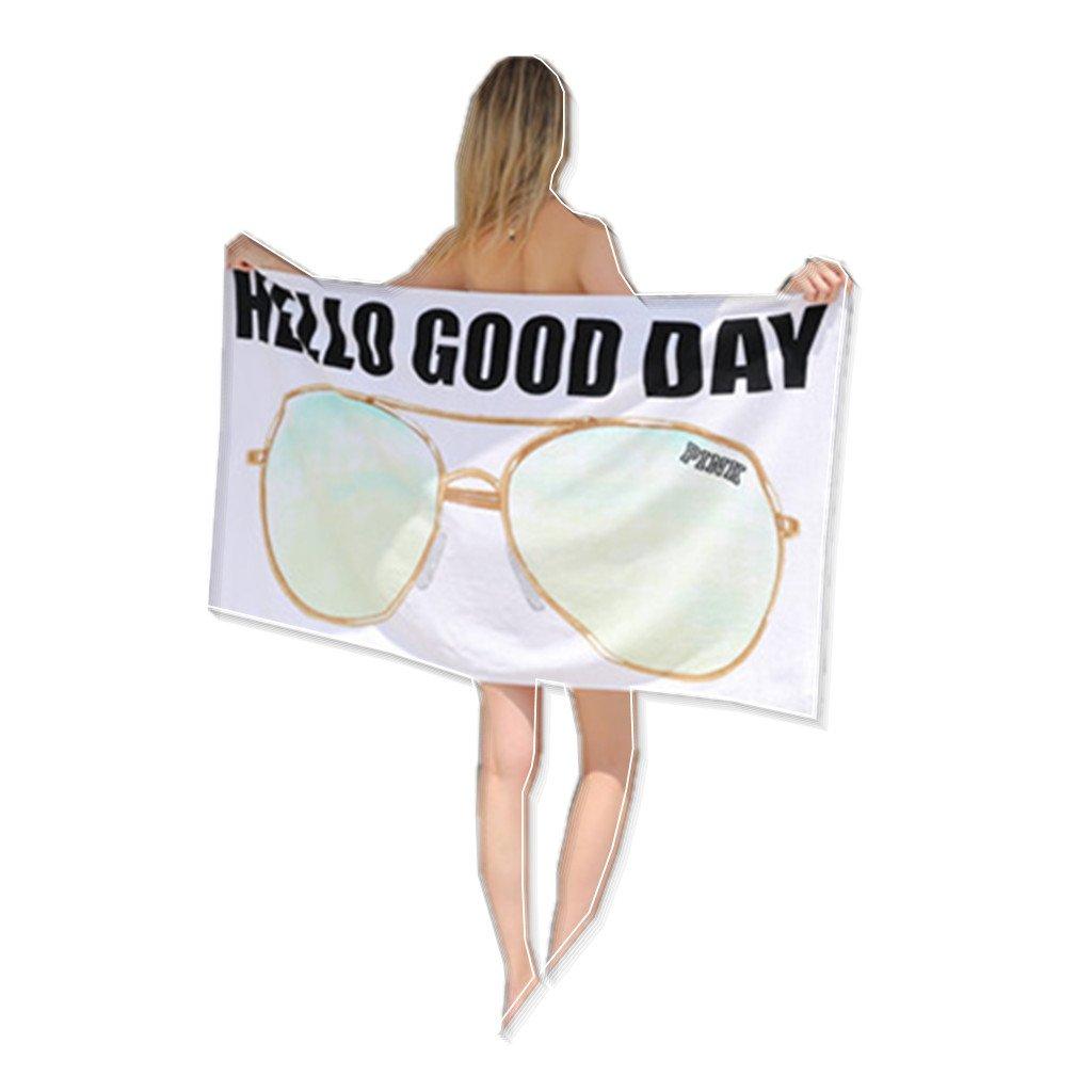 Women Adult Beach Bath Towel Ladies 100% Cotton Kids Quick Dry Travel Blanket