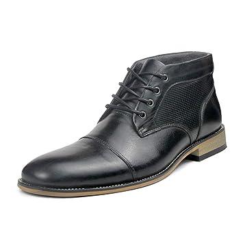 DANDANJIE Botas de Cuero para Hombre Zapatos de Vestir Formales 2018 Botines de Estilo británico de tacón Alto de Invierno: Amazon.es: Deportes y aire libre
