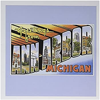 Amazon greetings from michigan vintage reprint postcard set of greetings from ann arbor michigan scenic postcard greeting card 6 x 6 inches single gc1702305 m4hsunfo
