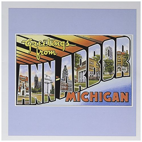 Greetings from Ann Arbor Michigan Scenic Postcard - Greeting Card, 6 x 6 inches, single - Arbor Single