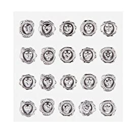 Darice David Tutera Illusion Silver Wax Seal Heart Stickers 49 Create the look of a wax seal, without the mess Adds an elegant look to letters, invitations, and more Measures 1/2 inch in diameter 60 Seals per package