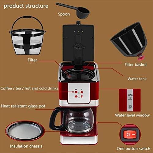 Qinmo Iced Machine à café, Machine entièrement Automatique de café, Ménage instantané Goutte à Goutte de Type Machine à café, café et thé Machine à Double Usage