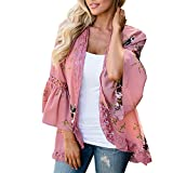 Lisli Women's Lace Patchwork Cover up Floral Print Sheer Loose Kimono Cardigan Capes