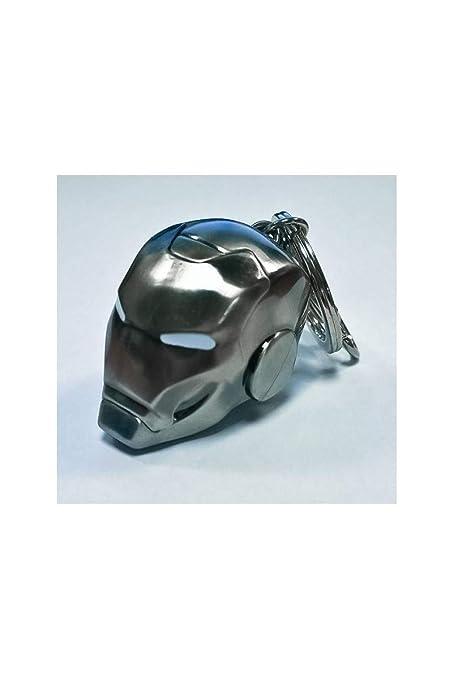 SeDi SMK002NB - Llavero metálico (1 unidad), diseño casco Iron Man