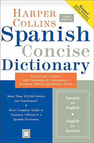 Collins Spanish Concise Dictionary, 3e (HarperCollins Concise Dictionaries) (Spanish and English Edition)
