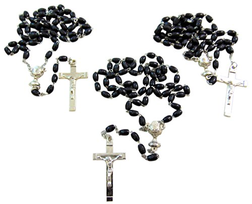 10 Pack of Boys First Holy Communion Rosary Bulk Lot for Students Classroom Rosary - Order Bulk Gifts