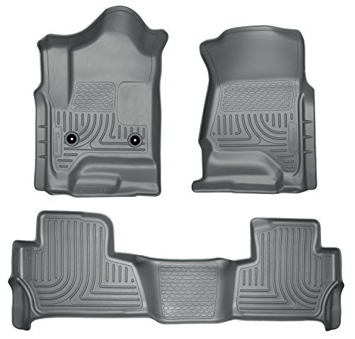 (Husky Liners 99202 WeatherBeater Grey Front and 2nd Seat Floor Liner by Husky Liners)