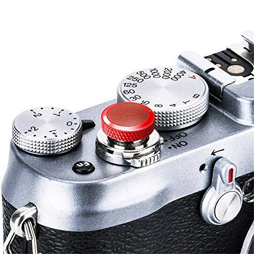 JJC Compatible Soft Shutter Release Button Cap for Fuji Fujifilm X-T3 XT3 X100F X-Pro2 X-Pro1 X-T2 X-E3 X-E2S X-T20 X-T10 X100T X100S X30 for Sony RX10 IV,RX10 III II,RX10,RX1R II,RX1 R,RX1 / R Brown