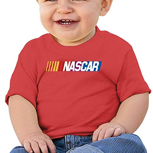 Kids Boy Girl Shirt NASCAR Tshirt Infants Toddlers T Shirts Short Sleeve for Baby Boys Girls T-Shirt 6-24 Months Red 6 Months ()