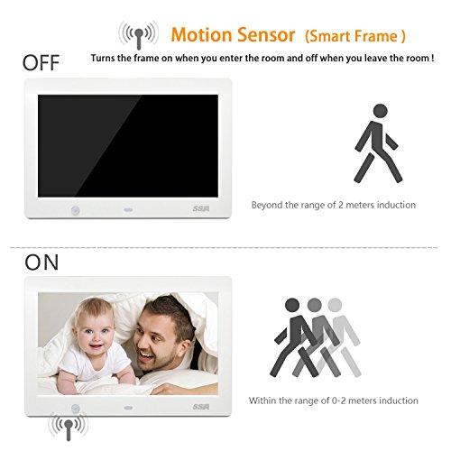70%OFF SSA 10-Inch HD Digital Photo Frame with Motion Sensor High ...