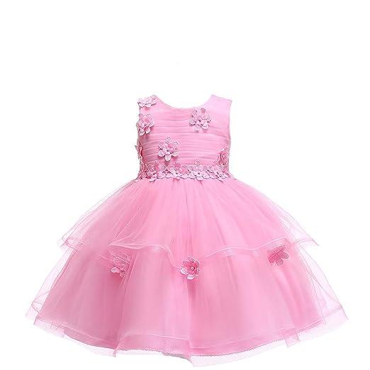QZ Princesa Vestido de niña de Flores Verano Tutu Boda ...