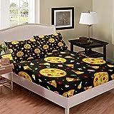 Castle Fairy Pizza Chicken Legs Bed Sheet Girl