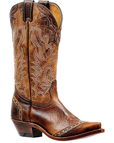 Price comparison product image Boulet Women's Damiana Moka Cowgirl Boot Snip Toe Brown 7.5 M