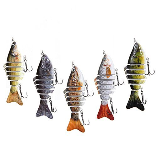 Delight eShop Fishing Sinking Crankbait Lures Popper Minnow Bass Crank Bait Hook Tackle (Assortment) - Pack of (1 Bass Lure)