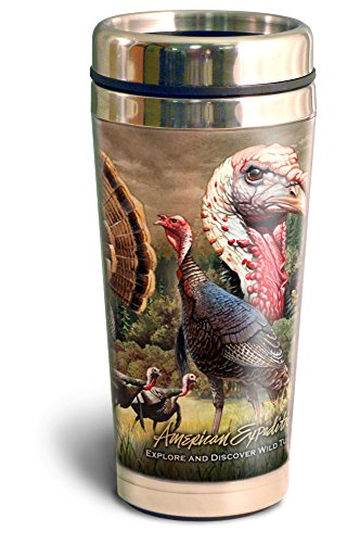 (American Expedition STMG-330 Steel Travel Mug, Wild Turkey Collage, 16 oz, Multi-Color )