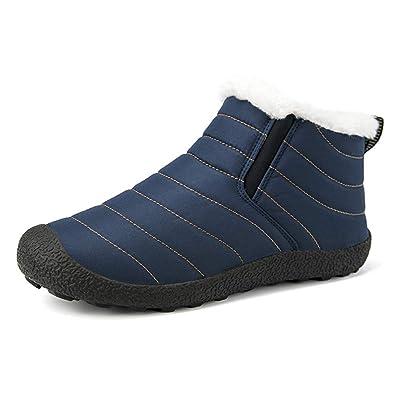Hombre Mujer Botas de Nieve Invierno Fur Calentar Aire Libre Botines Zapatos Senderismo Impermeables Anti-Deslizante Botas de Trabajo: Amazon.es: Zapatos y ...