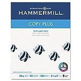 Hammermill Copy Plus Multipurpose Inkjet & Laser Paper, 8 1/2'' x 11'' Letter, 92 Bright White, 20 lb., 5000 Sheets/Case Carton (105007) (3, DESIGN 1)