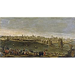 Oil Painting 'Martinez Del Mazo Juan Bautista View Of The City Of Saragossa 1647', 16 x 30 inch / 41 x 75 cm , on High Definition HD canvas prints, Dining Room, Game Room And Laundry Room Decoration