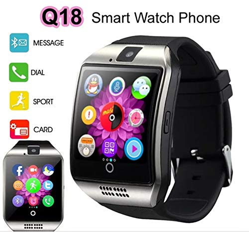 Smart Watch with Camera, Ezone Q18 Bluetooth Smartwatch with Sim Card Slot Fitness Activity Tracker