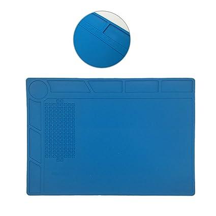 elikliv escritorio antiestático calor resistir soldadura Multi uso calor aislamiento tapete de silicona para trabajo mantenimiento