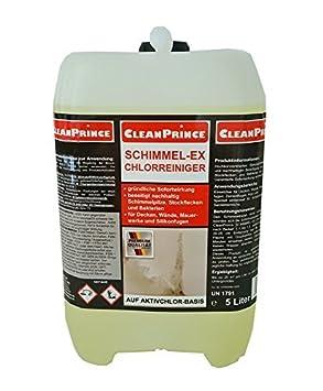 5 Liter Schimmel-Ex Schimmelex Chlorreiniger von Cleanprince Schimmelentferner chlorhaltig Schimmelstop Schimmelex Schimmel b