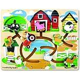 Melissa & Doug Farm Maze Wooden Puzzle