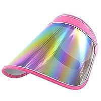 Guerbrilla Plastic Sun Visor UV Protection Hat Cap (red)