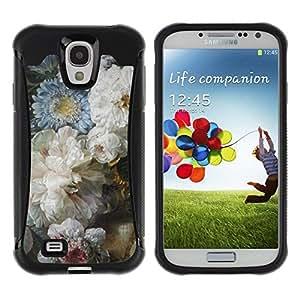 Suave TPU GEL Carcasa Funda Silicona Blando Estuche Caso de protección (para) Samsung Galaxy S4 IV I9500 / CECELL Phone case / / Flowers Blue White Mothers Day /