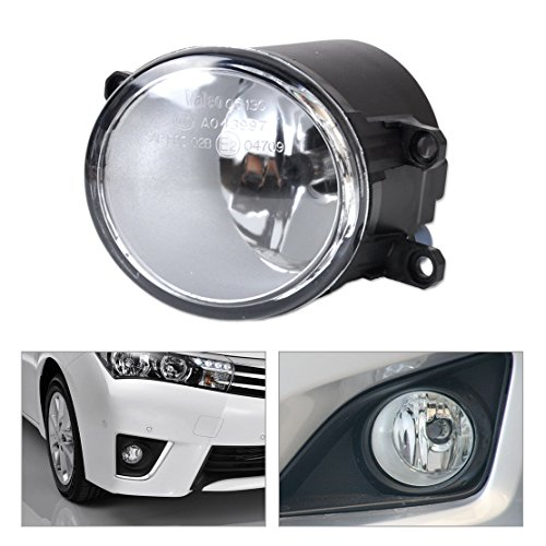 (Ricoy Pair Set Fog Light Lamps with H11 55W Halogen Bulbs For Lexus IS GS ES CT LX RX Toyota Camry Highlander Corolla Tacoma Metrix Yaris Prius Scion xA, etc)