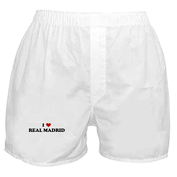 Amazon.com: CafePress I Love Real Madrid - Pantalones cortos ...