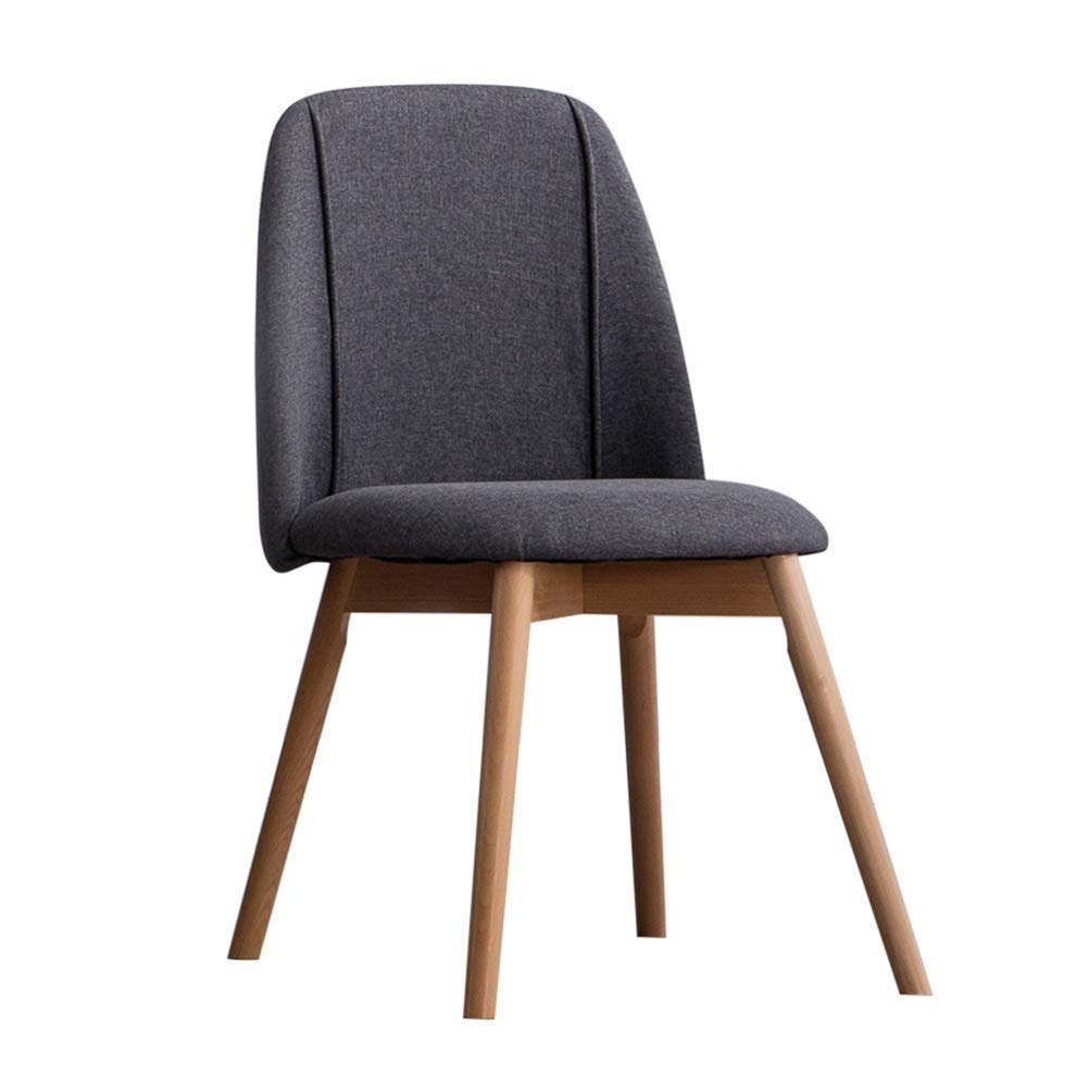 Fabric Dining Chair Ergonomic Design Office Chair Comfortable Bar Stool Modern Simple Solid Wood Seat Adult Stool Suitable for Restaurants/Bars/Cafes/Living Rooms/Family/Reception,DarkBlue