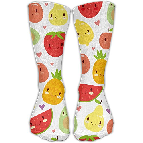 YUANSHAN Socks Fruits Party Women & Men Socks Soccer Sock Sport Tube Stockings Length 11.8Inch (Veggie Easter Tray)