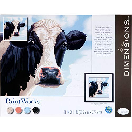 Dimensions 73-91731, Cow PaintWorks Numbers Kit for Adults and Kids, Painting, x 11'