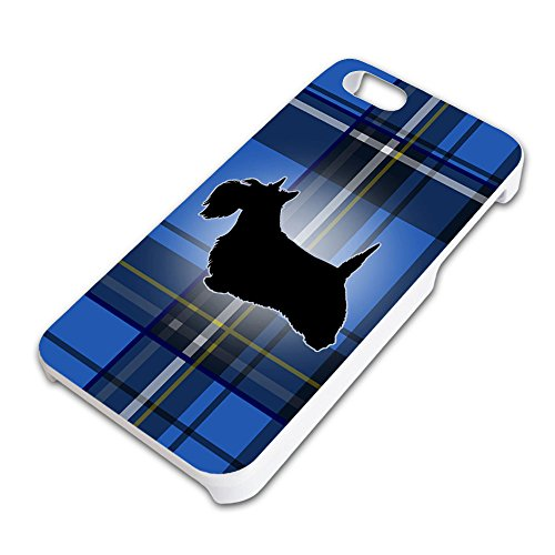 Scottie Dog on Blue Plaid Scottish Terrier Slim Fit Hard Case Fits Apple iPhone 5 5S