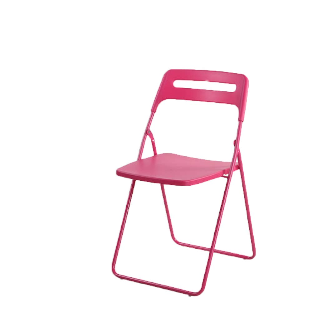 PINK FXNN Folding Chair - Home Portable Chair Adult Dining Chair (color   RED)