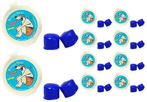 PUTTY BUDDIES Floating Earplugs 10-Pair Pack - Soft Silicone Ear Plugs for Swimming & Bathing - Invented by Physician - Keep Water Out - Premium Swimming Earplugs - Doctor Recommended (Blue)