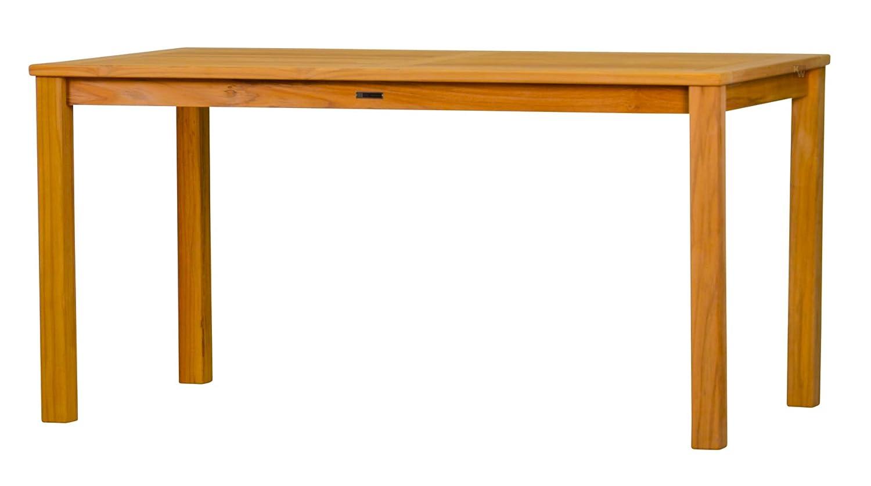 Massiver Gartentisch London aus Teakholz, 120x80cm ✓ Wetterfest ✓ Nachhaltig ✓ Robust ✓ Holztisch, Balkon-Tisch, Terrassen-Tisch ✓ Teak-Tisch, Esstisch für draußen ✓ Garten-Möbel aus Massiv-Holz