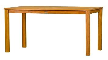 London Table de jardin en teck massif, 120 x 80 cm & # x2713 ...