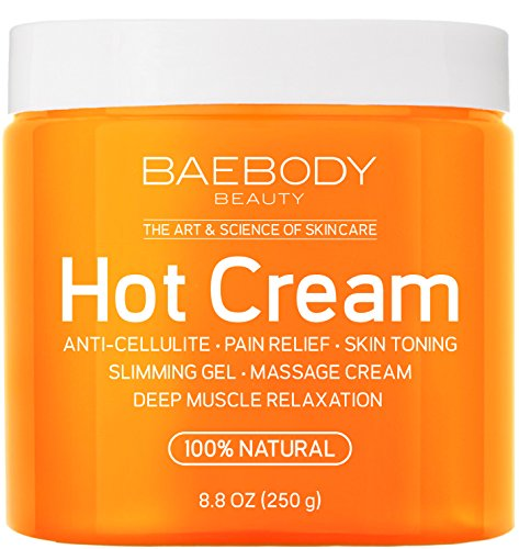 Cellulite Cream & Pain Relief Cream for Muscle Relaxation. Anti-Cellulite Hot Cream Treatment, Firms Skin, Muscle Rub and Massager Gel. Huge 8.8 Oz. (Muscle Accelerator)