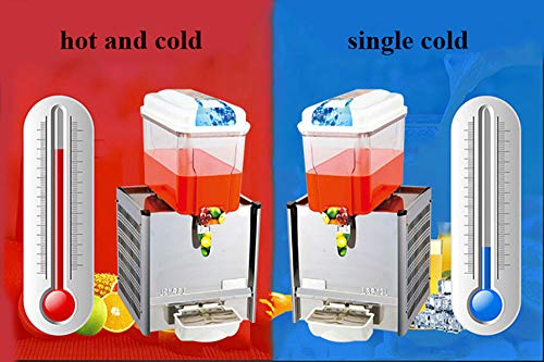 CGOLDENWALL Commercial Beverage Machine Automatic Juice Dispenser Stainless Steel Beverage Machine Cold&Hot Drink Machine Cold Beverage Machine Beer Machine 12L Single/Double/Three Tanks (Single Tank, Single Cold) by CGOLDENWALL (Image #1)