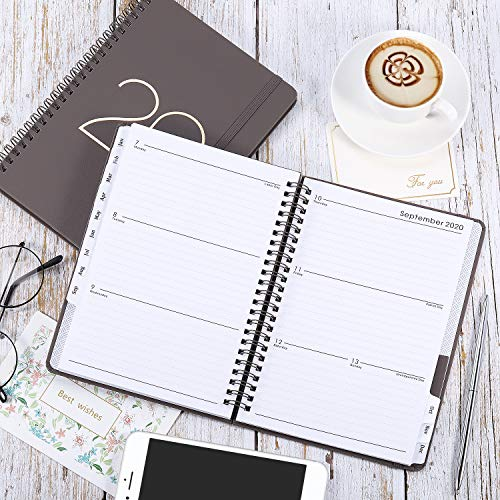 2019-2020 Academic Planner - 12 Month Calendar with Monthly Tabs, July 2019 - June 2020, Flexible Cover with Twin-Wire Binding, Banded, 6.45 x 8.45