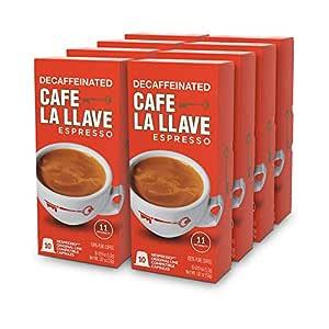 Café La Llave Decaf Espresso Capsules, Intensity 11-Recylable Coffee Pods (80 Count) Compatible with Nespresso OriginalLine Machines