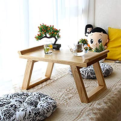 Mesa baja de madera maciza Balcón con ventanal Mesa baja Tatami ...