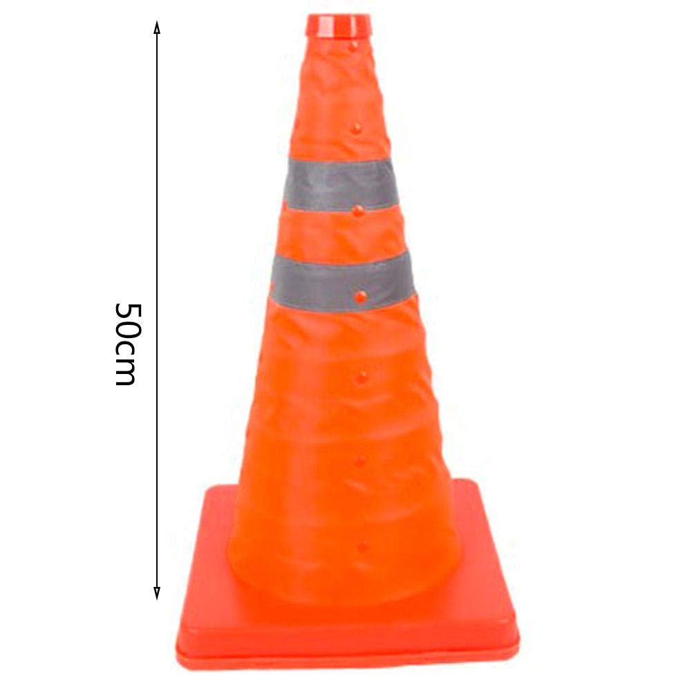 Rundaotong-US Collapsible Traffic Multi Purpose Pop Up Reflective Safety Cone, 12 inch