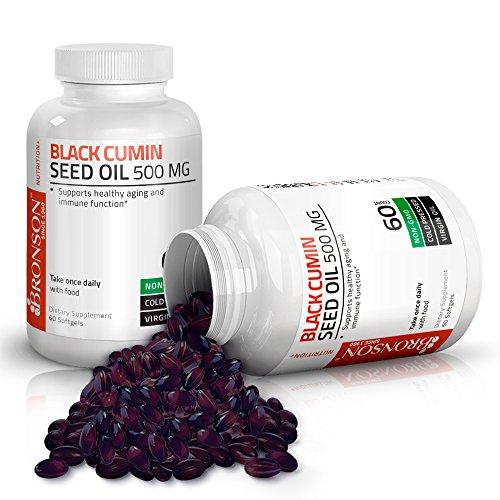 Bronson Black Cumin Seed Oil 500 mg Premium Non-GMO Cold Pressed Formula, 60 Softgels by Bronson (Image #2)