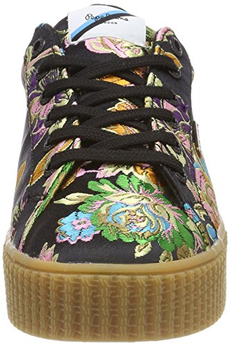 Pepe Jeans London Damen Frida Orient Sneaker Schwarz (Black)