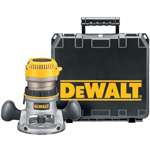 DEWALT DW618K 2-1/4 HP Electronic Variable Speed Fixed Base Router with So Start Kit