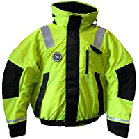 FIRST WATCH AB-1100-HV-XL / First Watch Hi-Vis Flotation Bomber Jacket - Hi-Vis Yellow/Black - X-Large