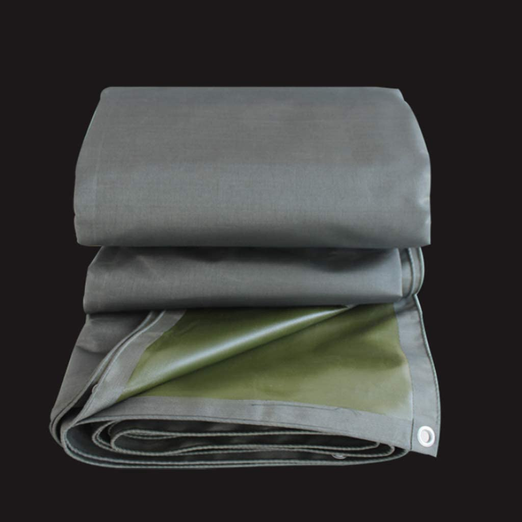灰色の防雨布日焼け止めサンシェードトラック天幕布ターポリンターポリン工業キャンバス、様々なサイズ550G /M² (サイズ さいず : 8*10m)  8*10m